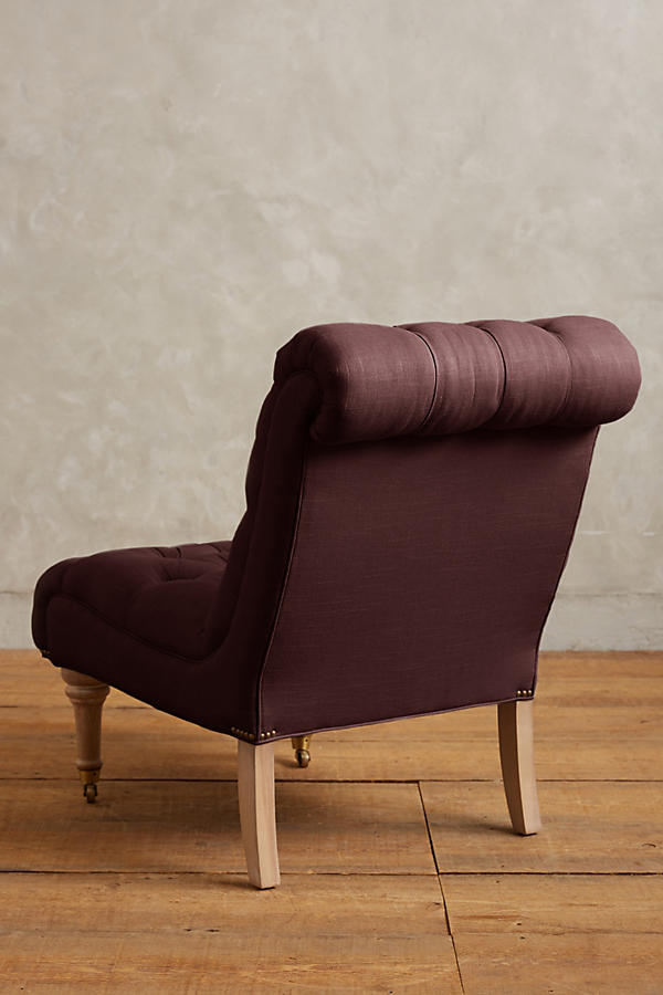 Slide View: 2: Linen Orianna Slipper Chair