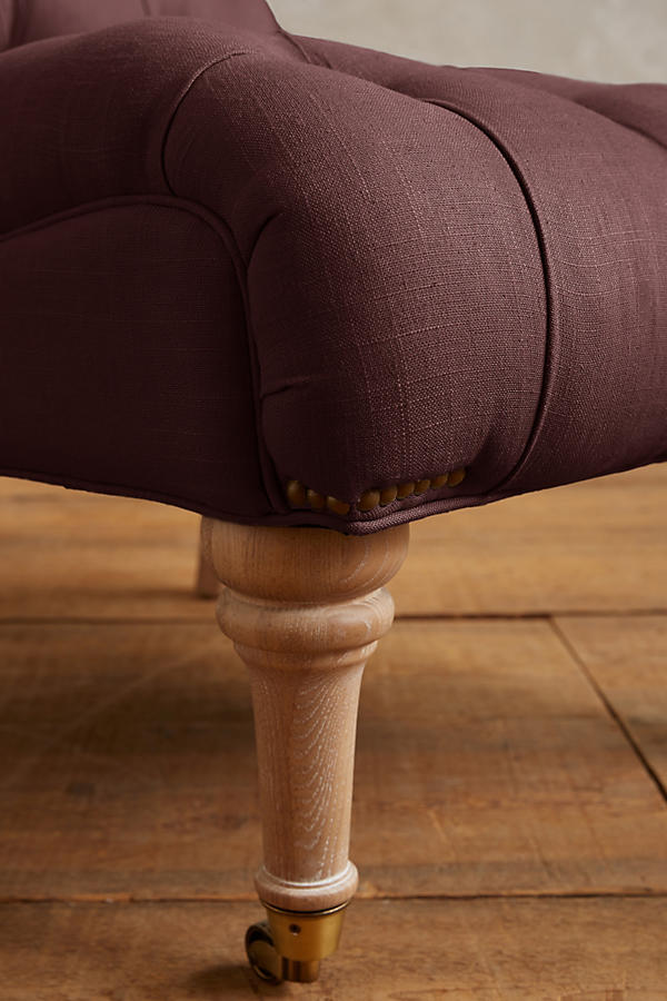 Slide View: 4: Linen Orianna Slipper Chair