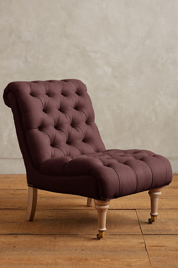 Slide View: 1: Linen Orianna Slipper Chair