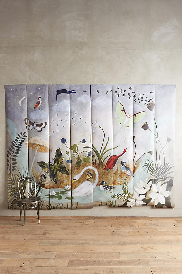 Nightfall on the moor mural anthropologie for Anthropologie wall mural