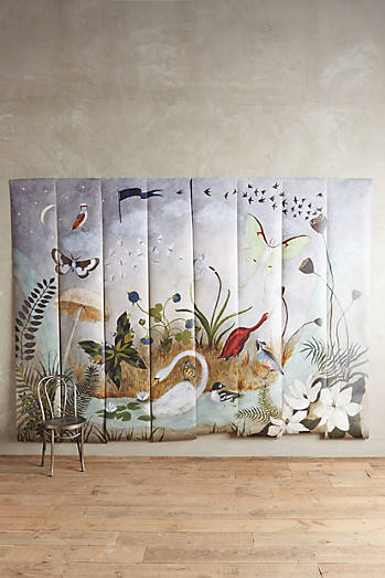 Murals anthropologie for Anthropologie enchanted forest mural