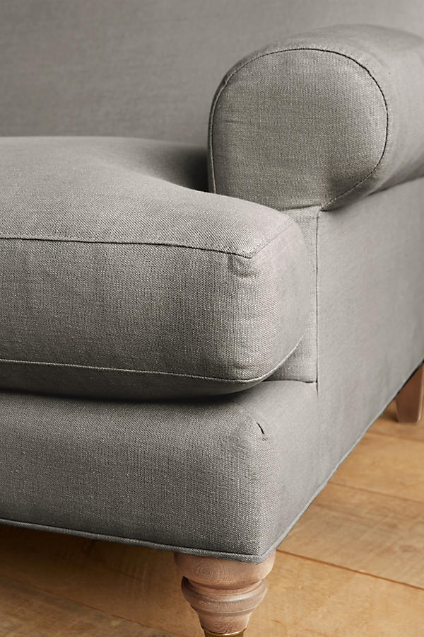 Slide View: 3: Linen Willoughby Settee, Wilcox