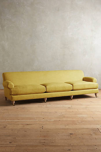 Slide View: 1: Linen Willoughby Grand Sofa, Wilcox