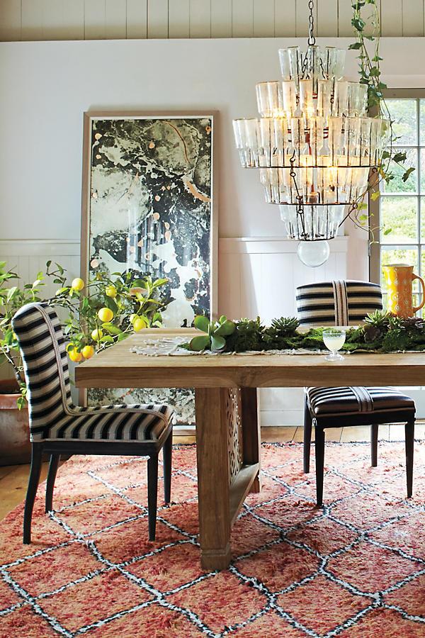 Grassland Stripe Dining Chair | Anthropologie
