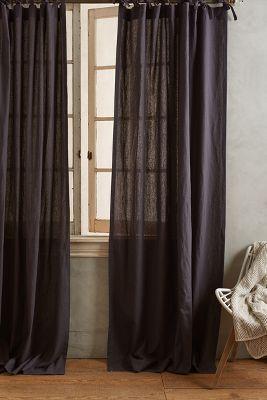 Curtains Ideas anthropologie curtain tie backs : Linen Tie-Top Curtain | Anthropologie