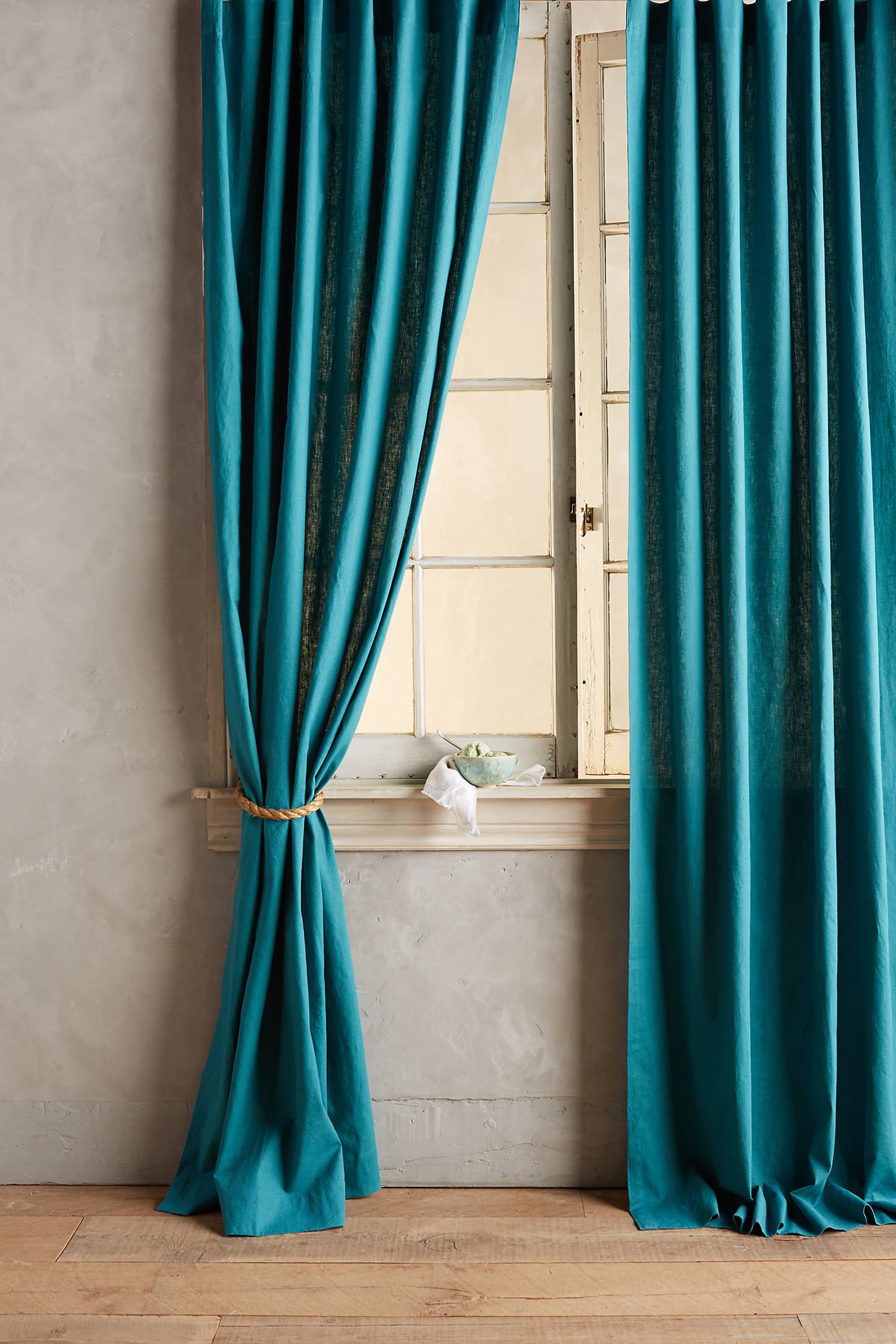 Linen Tie-Top Curtain