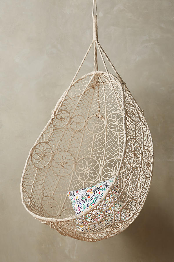 Slide View: 1: Knotted Melati Hanging Chair