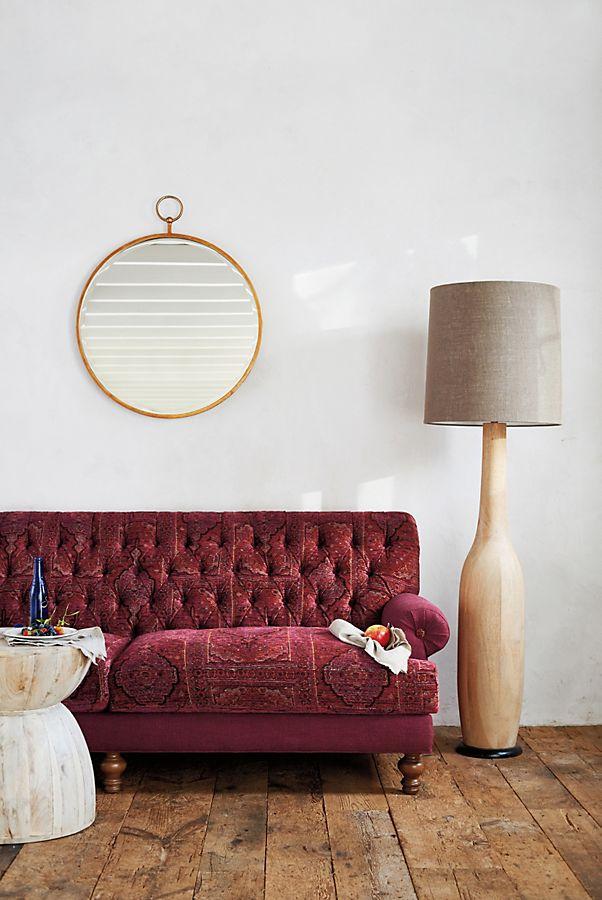 Slide View 3 Carved Wood Floor Lamp