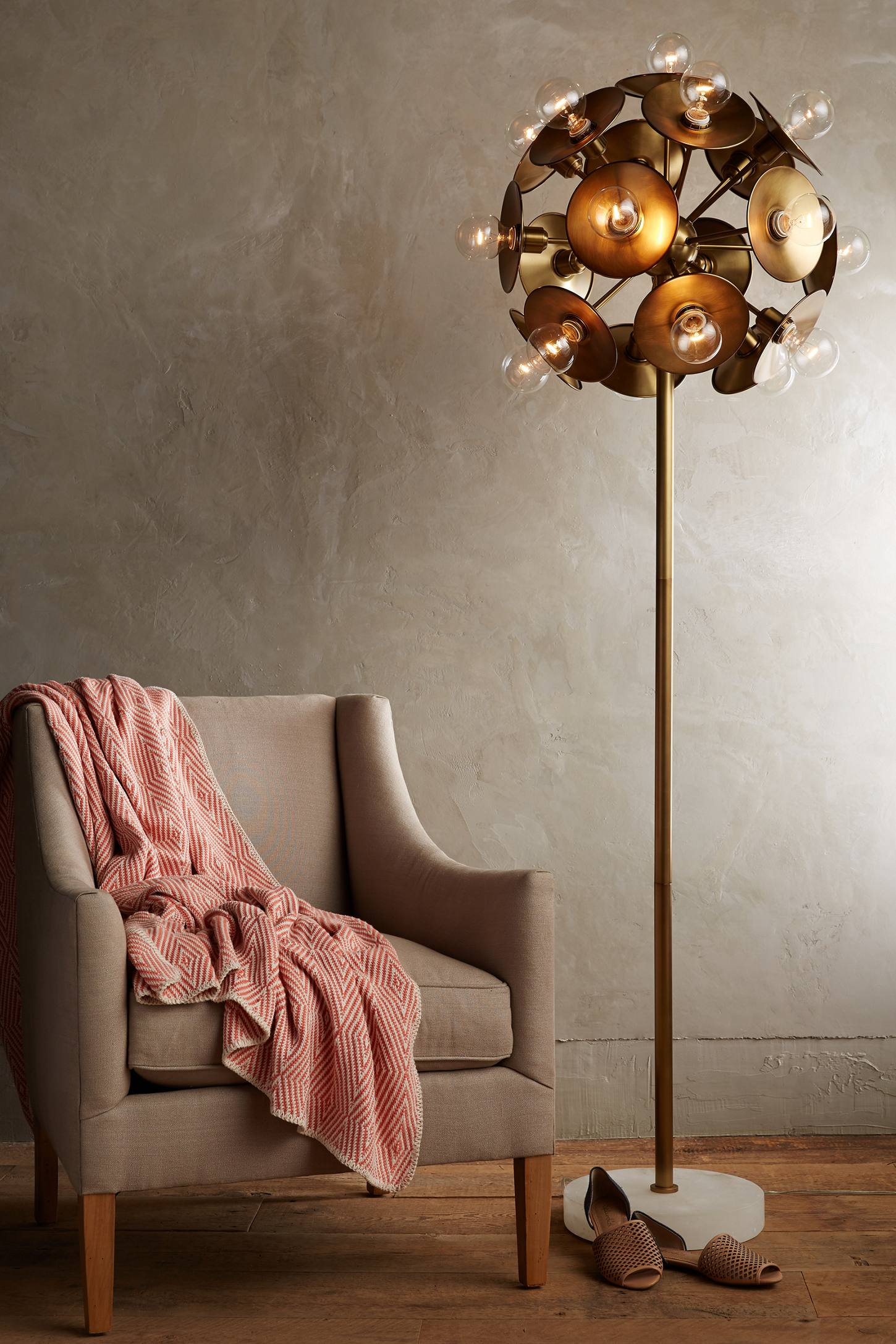 Slide View: 2: Metallic Bloom Floor Lamp