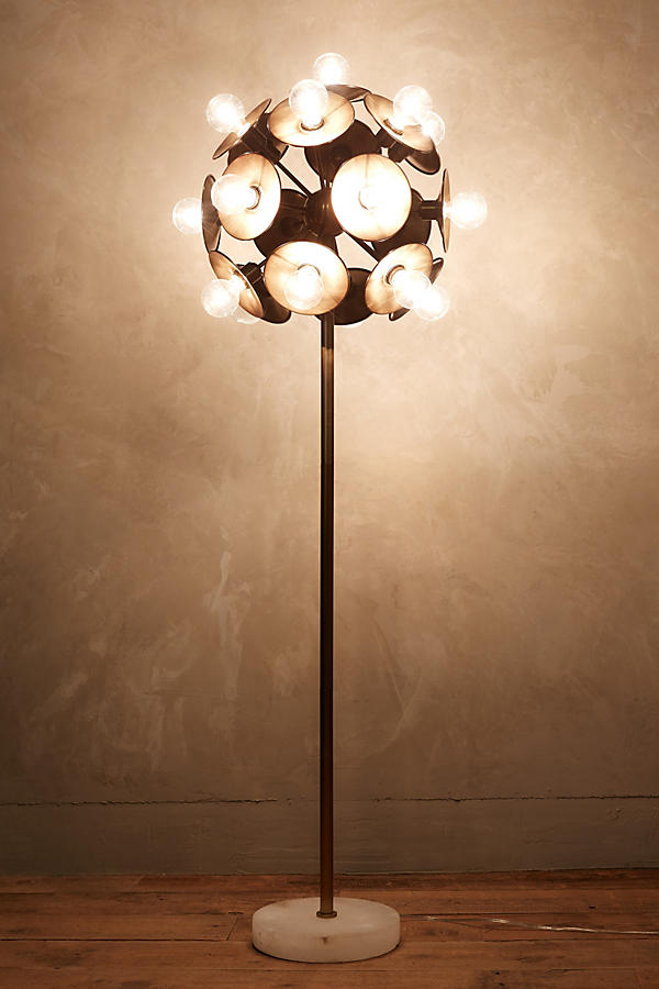 Slide View: 3: Metallic Bloom Floor Lamp