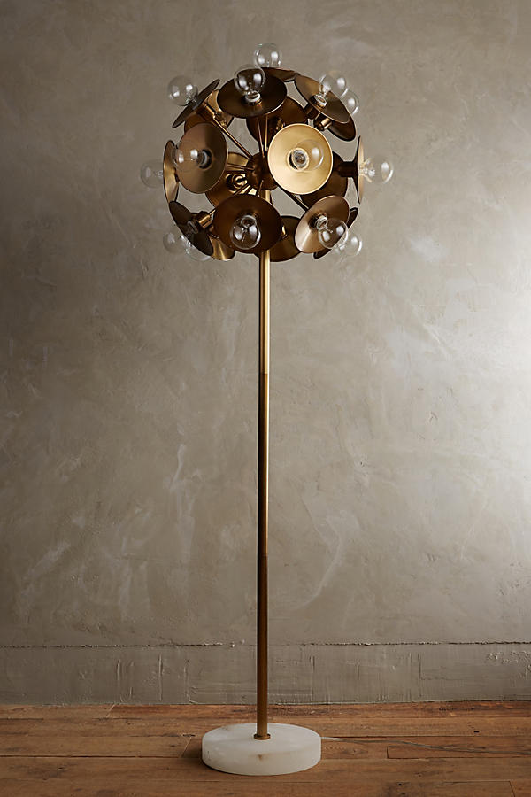 Slide View: 1: Metallic Bloom Floor Lamp