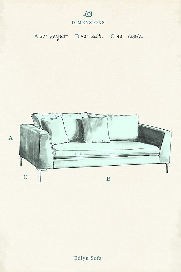 Slide View: 4: Linen Edlyn Sofa