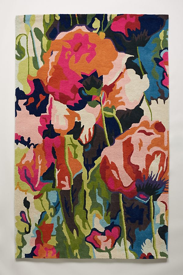 brilliant poppies rug anthropologie