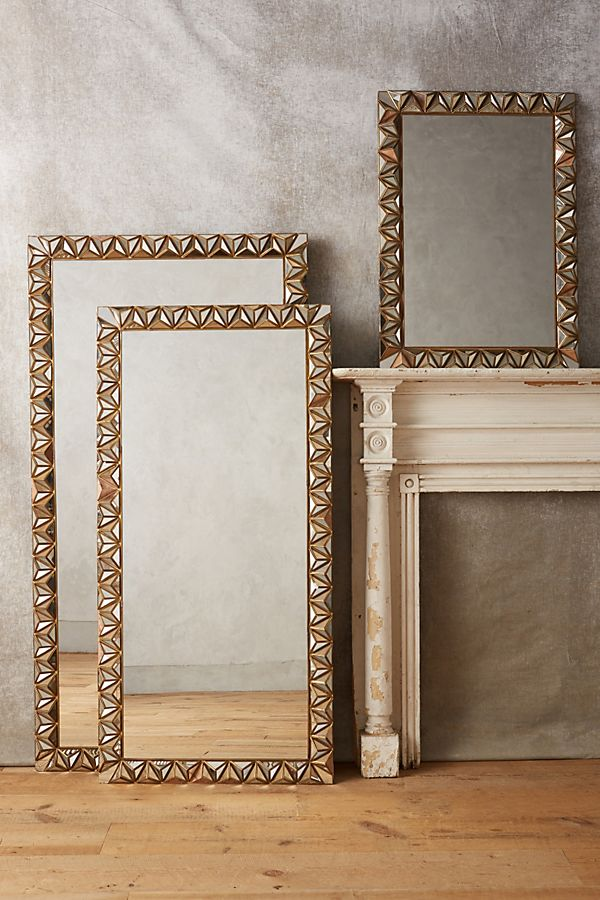 Slide View: 1: Studded Pyramid Mirror
