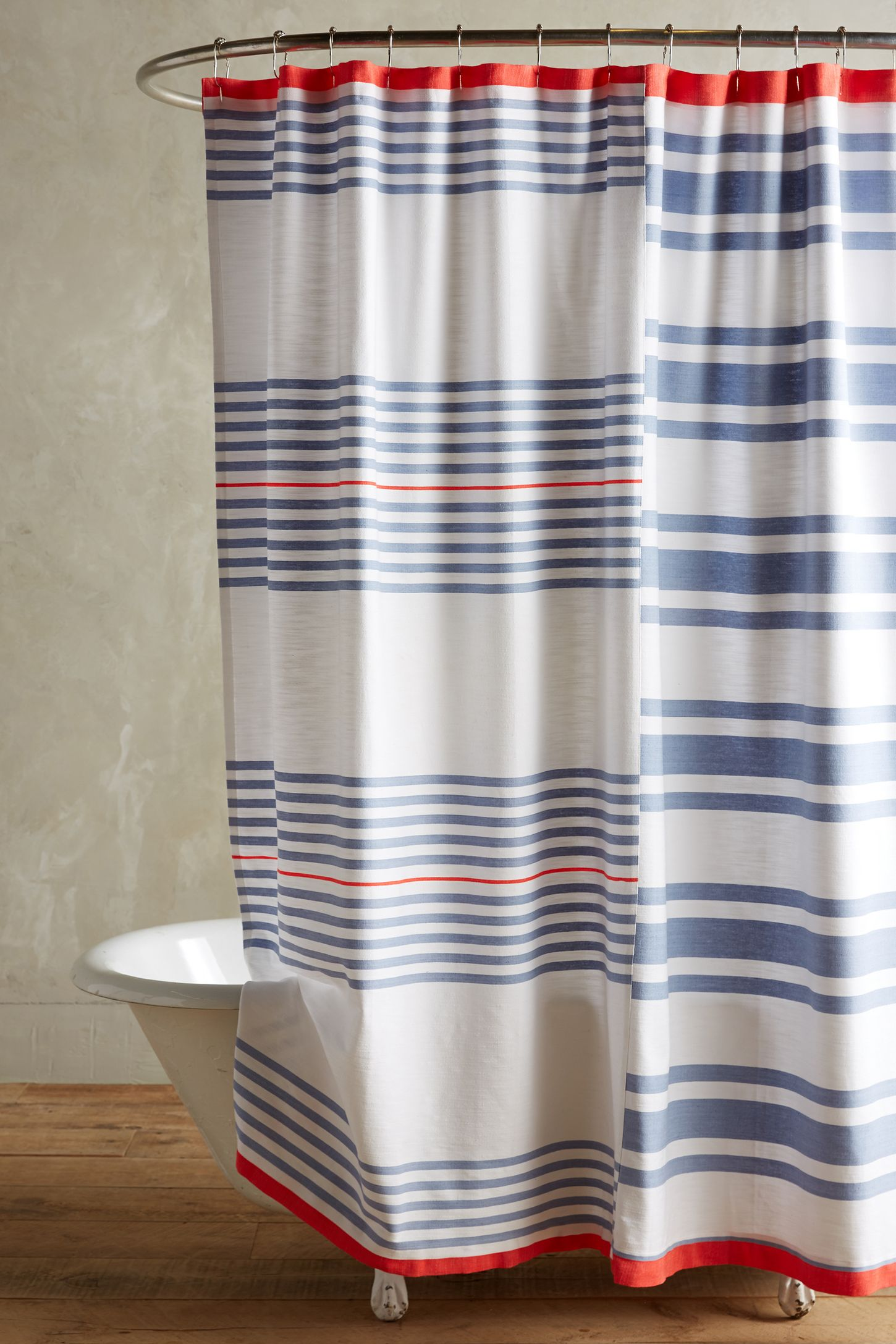 Red White And Blue Shower Curtain.  Maleda Shower Curtain Anthropologie