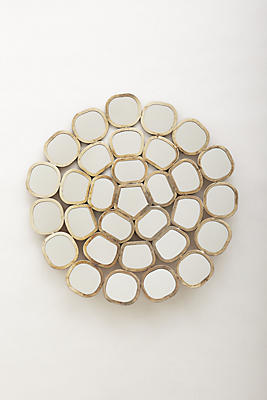 Slide View: 1: Honeycomb Ring Mirror