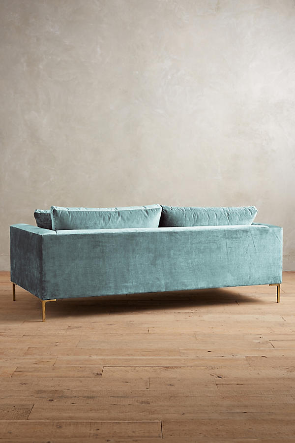 Slide View: 2: Slub Velvet Edlyn Sofa