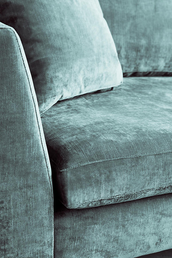 Slide View: 3: Slub Velvet Edlyn Sofa