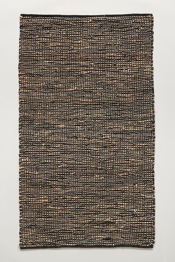 Slide View: 1: Leather-Twined Rug