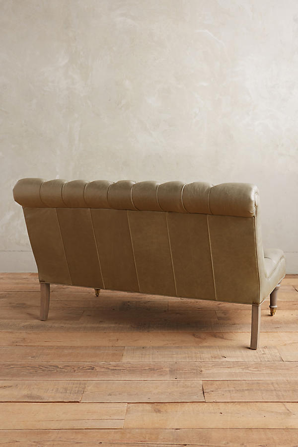 Slide View: 2: Leather Orianna Settee