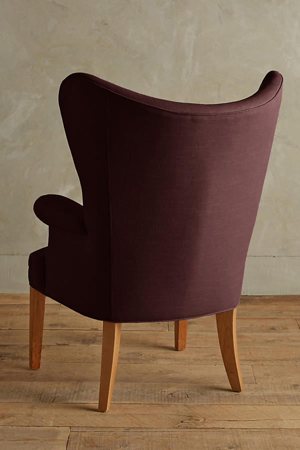 Slide View: 2: Linen Wingback Chair