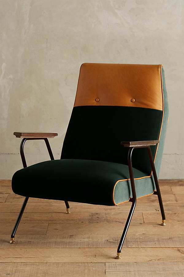 Slide View: 1: Velvet Quentin Chair