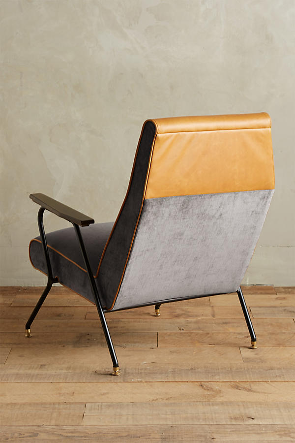 Slide View: 3: Slub Velvet Quentin Chair