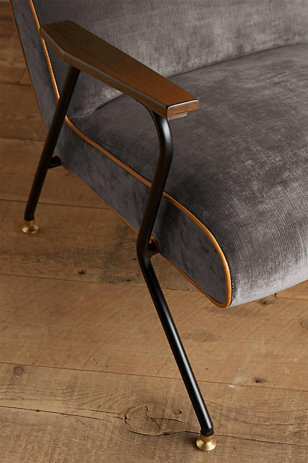 Slide View: 4: Slub Velvet Quentin Chair