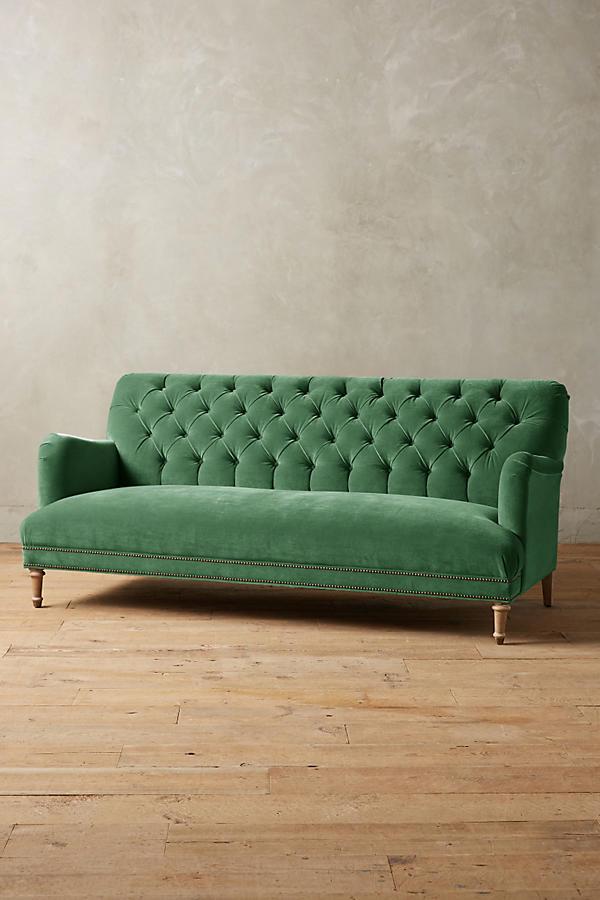 velvet orianna sofa anthropologie. Black Bedroom Furniture Sets. Home Design Ideas