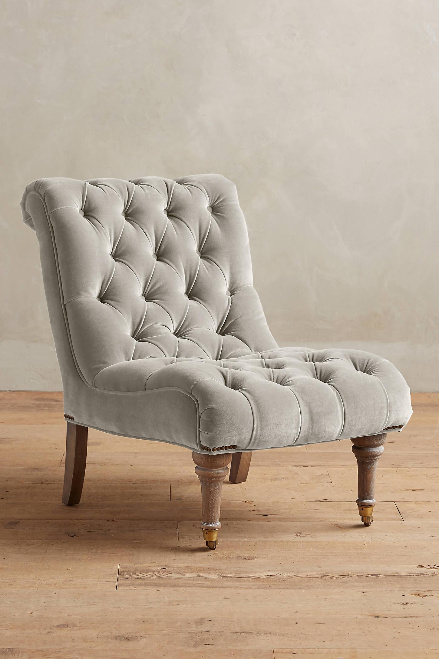 Velvet Orianna Slipper Chair