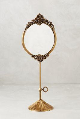 Brass Adalie Vanity Mirror - Antique Brass