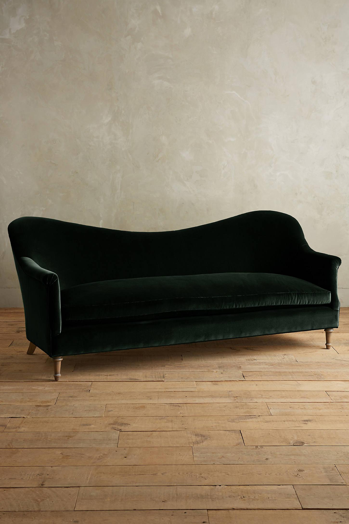 Velvet Pied-A-Terre Sofa, Wilcox