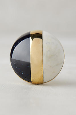 Slide View: 4: Gilded Triad Knob - Anthropologie