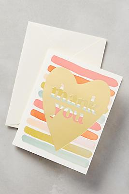 Heartfelt Thank You Card Anthropologie