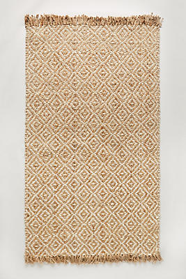 Diamond Tile Jute Rug Anthropologie