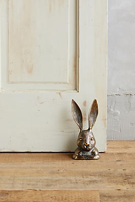 Slide View: 1: Rabbit Ears Doorstop