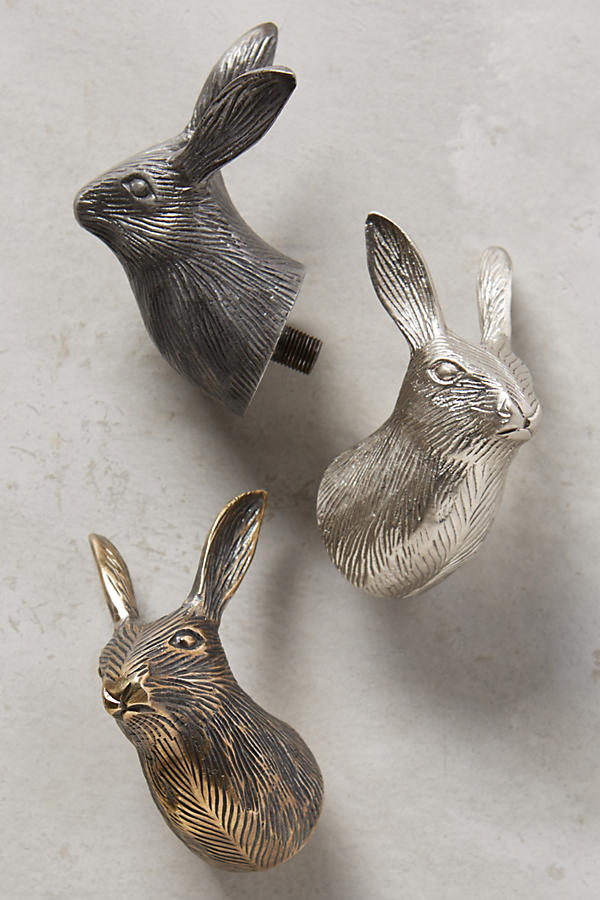 Slide View: 2: Curious Rabbit Finials