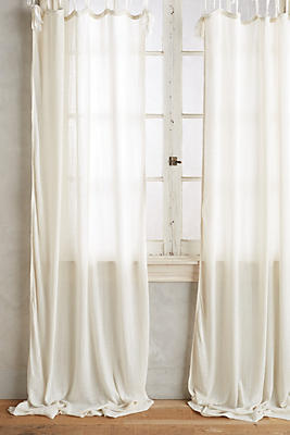 Slide View: 1: Cotton Tie-Top Curtain