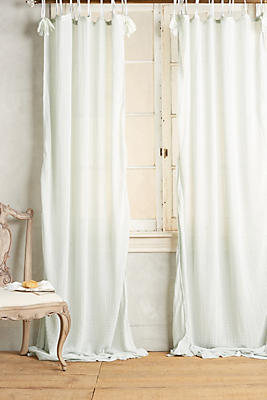 White Cotton Curtains Tie Top Curtain Menzilperde Net