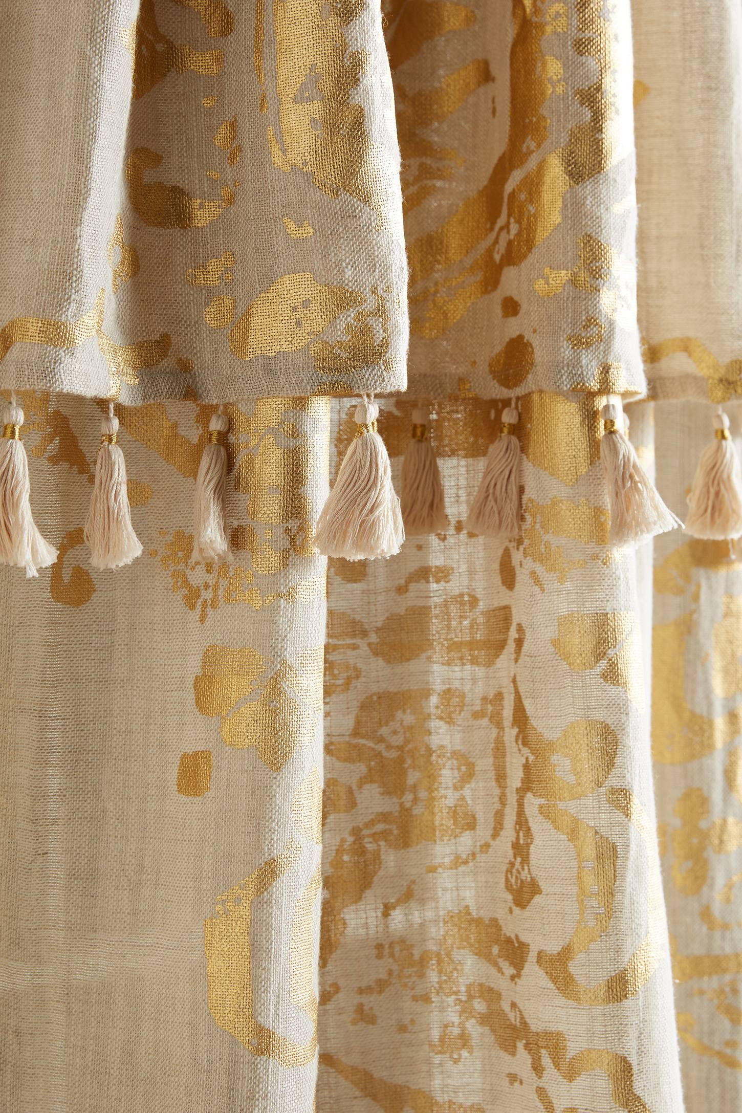 Slide View: 2: Gold Foil Curtain