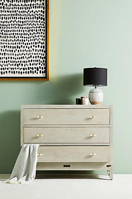 Slide View: 1: Tanah Three-Drawer Dresser