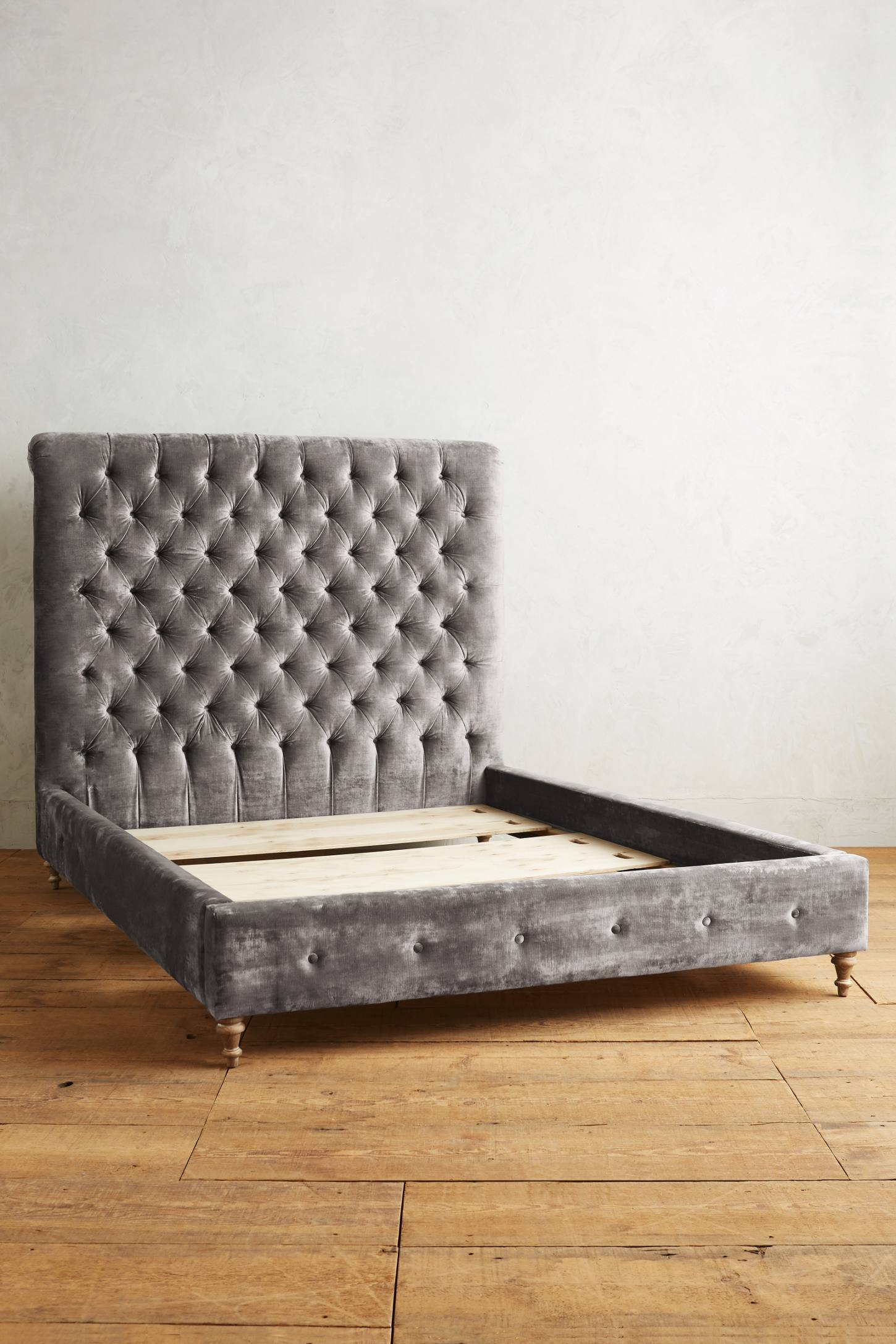 Slide View: 2: Slub Velvet Orianna Bed