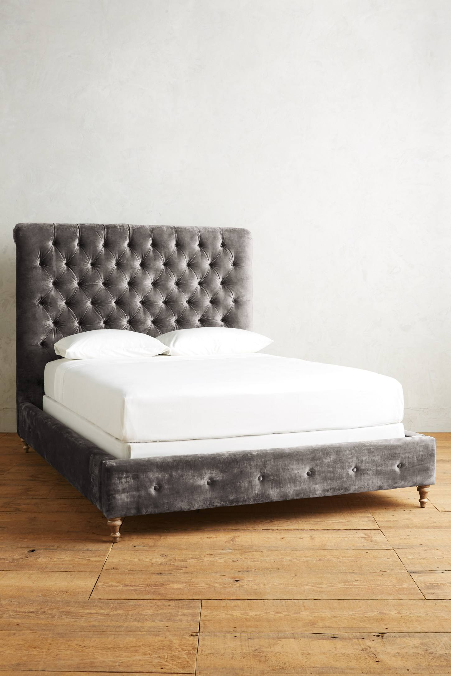 Slide View: 1: Slub Velvet Orianna Bed