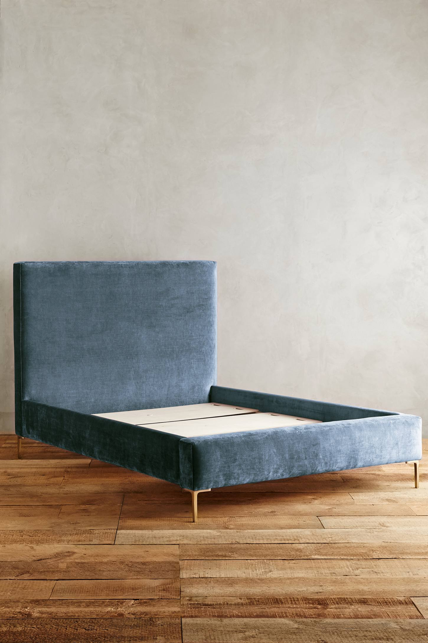 Slide View: 2: Slub Velvet Edlyn Bed