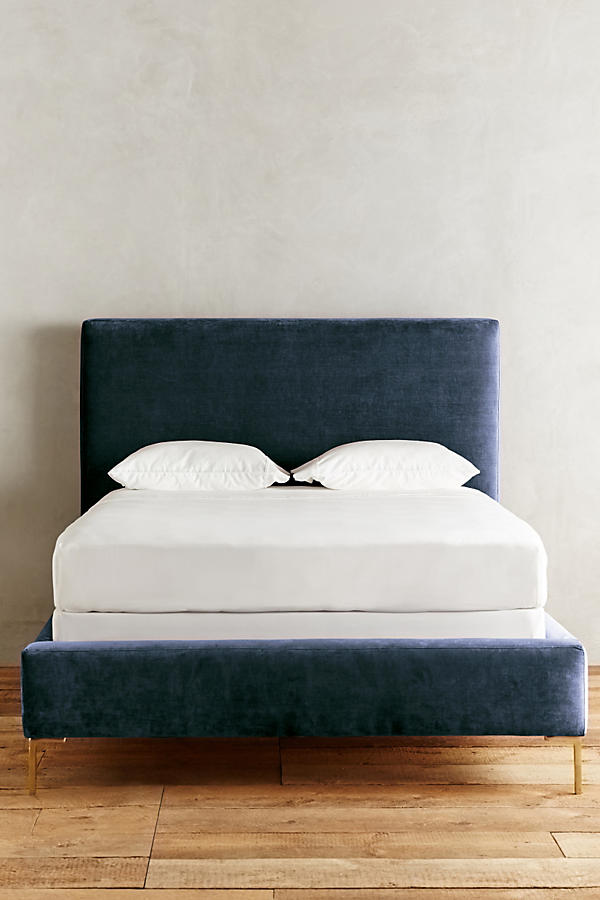 Slide View: 3: Slub Velvet Edlyn Bed