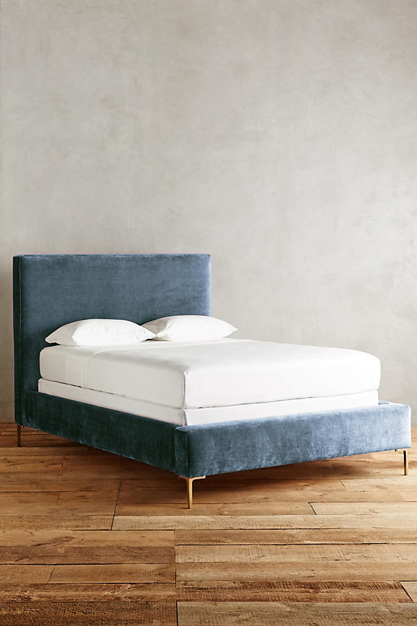 Slide View: 1: Slub Velvet Edlyn Bed