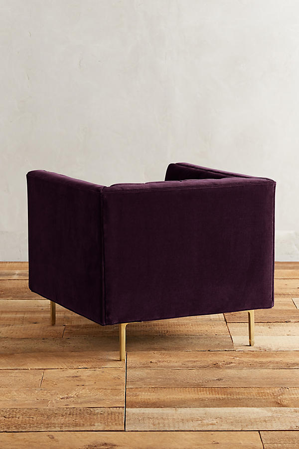 Slide View: 2: Velvet Mina Chair