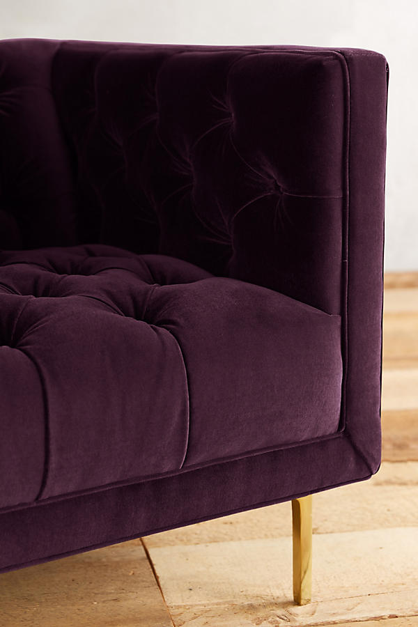 Slide View: 3: Velvet Mina Chair