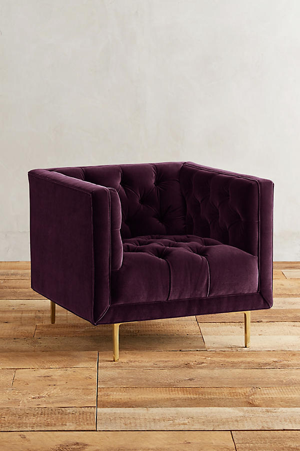 Slide View: 1: Velvet Mina Chair