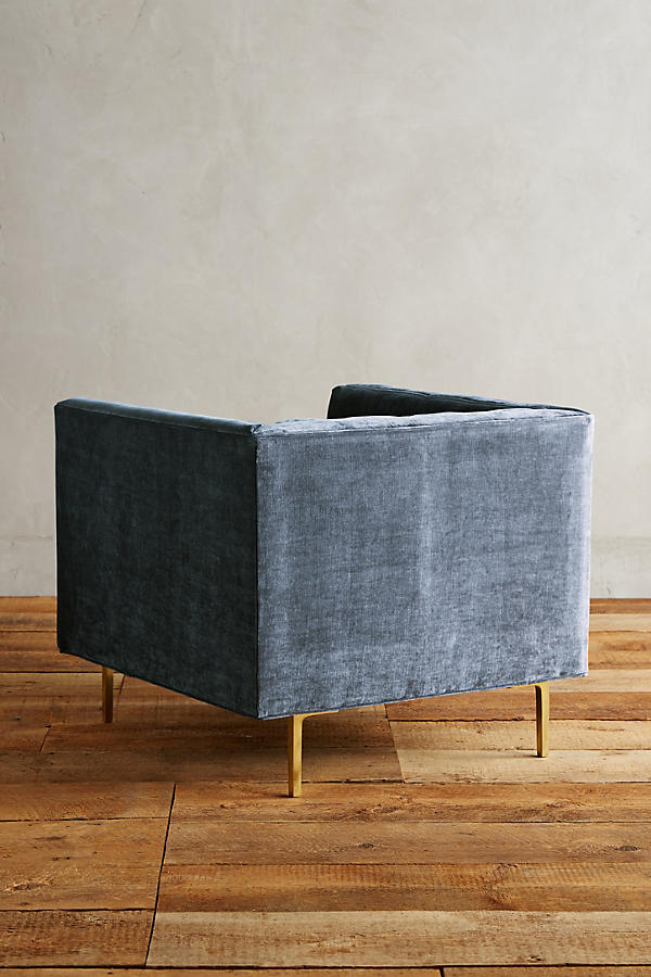 Slide View: 2: Slub Velvet Mina Chair
